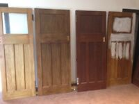 6x 1930s Internal Solid Wooden Doors, Common Glasgow Style