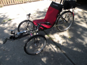 "Recumbent Terra Tricycle.""Rambler"" Model. Tadpole style."