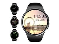 Evershop® Bluetooth Smart Watch 1.3 inches IPS Round Touch Screen Smartwatch Phone IOS and Android