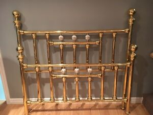 Brass plated bed frame Queen