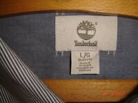 Timberland slim fit striped shirt, size Large.