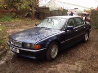 BREAKING BMW E38 735I AUTO. V8, BLUE, BBS WHEELS