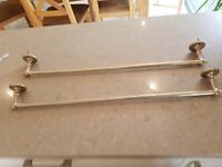 Brass towel rails (2)