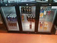 Triple door bar fridge