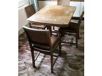 Vintage extending dining table and chairs