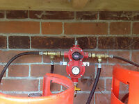 4 Way gas regulator with 3 cylinders