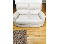 Leather 2 seats sofa+1 recliner