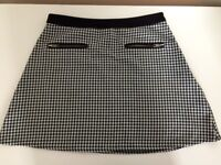 Urban Outfitters black/white gingham mini skirt size S