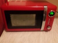 20 litre red microwave