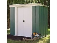 6 X 4 Greenvale metal shed brand new in box