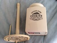 Cookie Jar and Kitchen Roll Holder