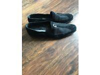 Men's roberto Botticelli black suede shoes, size 11