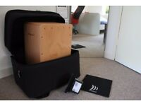 Cajon with bass-booster and custom carrying bag (recently tuned)