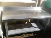 3 stainless tables
