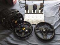 Thrustmaster T500RS Force Feedback F1 racing wheel + 2 add on wheel rims