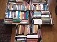 Five boxes of books 200 books in total for sale as a job lot
