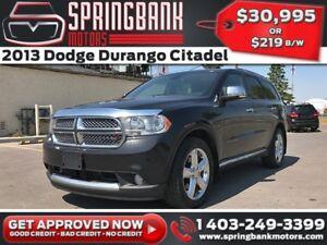 2013 Dodge Durango Citadel HEMI w/Leather, Sunroof, Navi, DVD $2