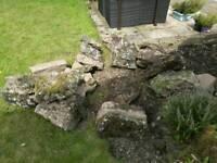 Rockery garden stones