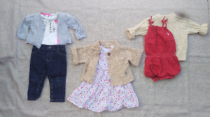 GIRLS 9 MONTH TRENDY OUTFITS