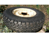 Landrover wheel and very good condition tyre, 7.50r16. £40 ONO.