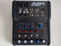Alesis Multimix 4 USB FX - 4 Channel USB Mixer with effects