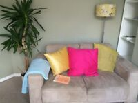 2 seater sofa, excellent condition, soft grey colour.