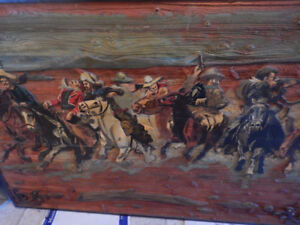 Large 3D hand carved painting