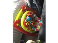 Baby rocker/walker and high chair