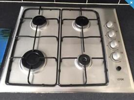 Gas hob - stainless steel