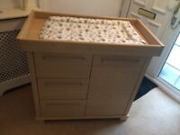 Mamas and Papas Beech Baby Changing unit, drawers and wardrobe