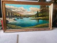 Large W Jones Oil Painting