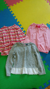Girls long sleeved tops (size 5)