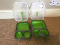 Collapsible lunch boxes