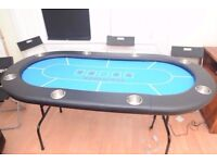TekPoker Full Sized Poker Table - Seats 8 Players - With Drinks Holders