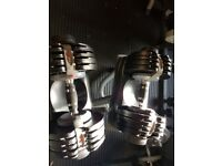 Dumbells with stand