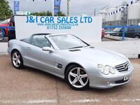 MERCEDES-BENZ SL 3.7 SL350 2d AUTO 245 BHP 9 SERVICES STAMPS GREAT (silver) 2005