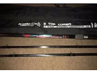 SteadFast 2XL 2 Top Combo Universal Leger/Feeder Fishing Rod 11ft & Bag
