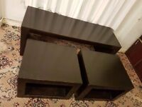 3 PIECE COFFEE TABLE SET. COLLECTION ONLY