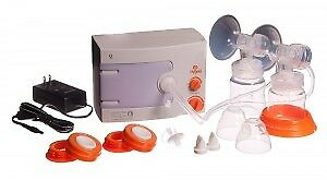 Hygeia double breast pump with new, sealed accessories