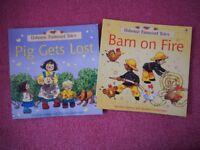 2 Paperback Usbourne Farmyard Tales Children's Story Books