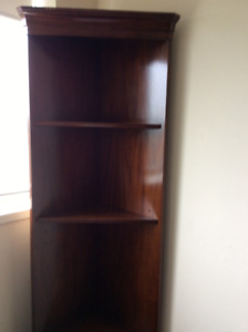Beautiful Corner Bookcase / Shelf Unit