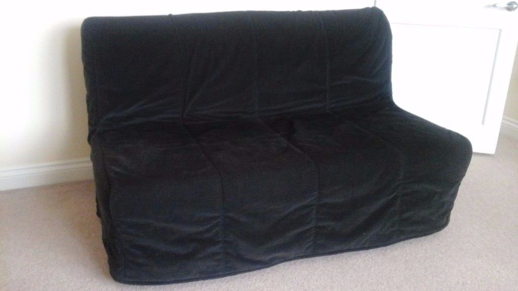 Ikea lycksele murbo two seat sofa bed with hen n black for Sofa bed 2 seater ikea