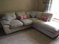 Cream / Beige Corner Sofa