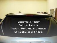 Custom Rear Windshield Vinyl Car Sticker