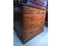 A Victorian oak dressing chest of drawers