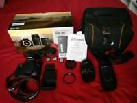 Canon 100D + 2 Lenes + Cards + Case!