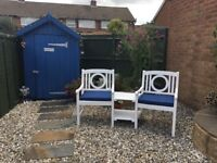 Garden love bench - with cushions