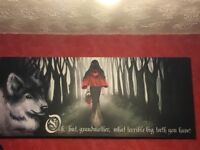Gothic little red riding hood canvas