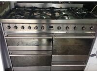SMEG 110cm WIDE DUAL FUEL COOKING RANGE DOUBLE OVEN WITH GRILL FREE DELIVERY AND WARRANTY