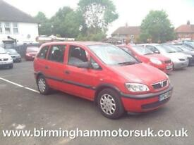 2003 (53 Reg) Vauxhall Zafira 1.6I 16V CLUB 5DR Hatchback RED + 7 SEATS